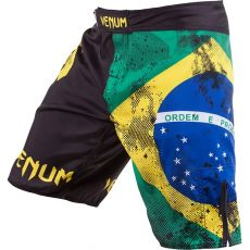 MMA ΣΟΡΤΣΑΚΙ VENUM BRAZILIAN FLAG FIGHTSHORTS - BLACK