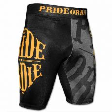 ΣΟΡΤΣΑΚΙ MMA PRIDE OR DIE RECKLESS VALE TUDO COMPRESSION SHORTS - BLACK/YELLOW