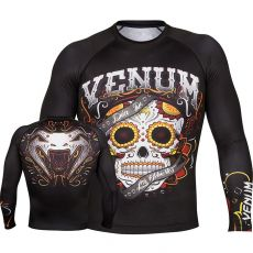 VENUM SANTA MUERTE 2.0 RASHGUARD LONG SLEEVES - BLACK