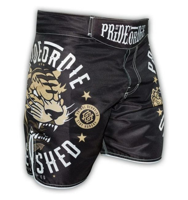 Pride Or Die Unleashed Fight Shorts - Black
